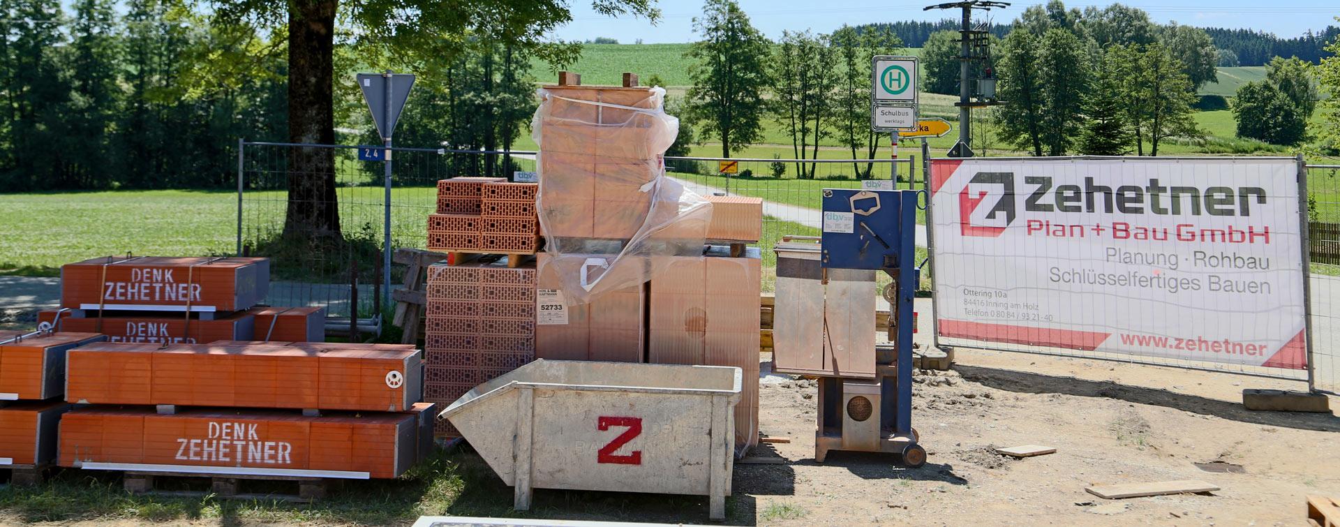 Baumaterial und Arbeitsmaterial von Zehetner Plan + Bau