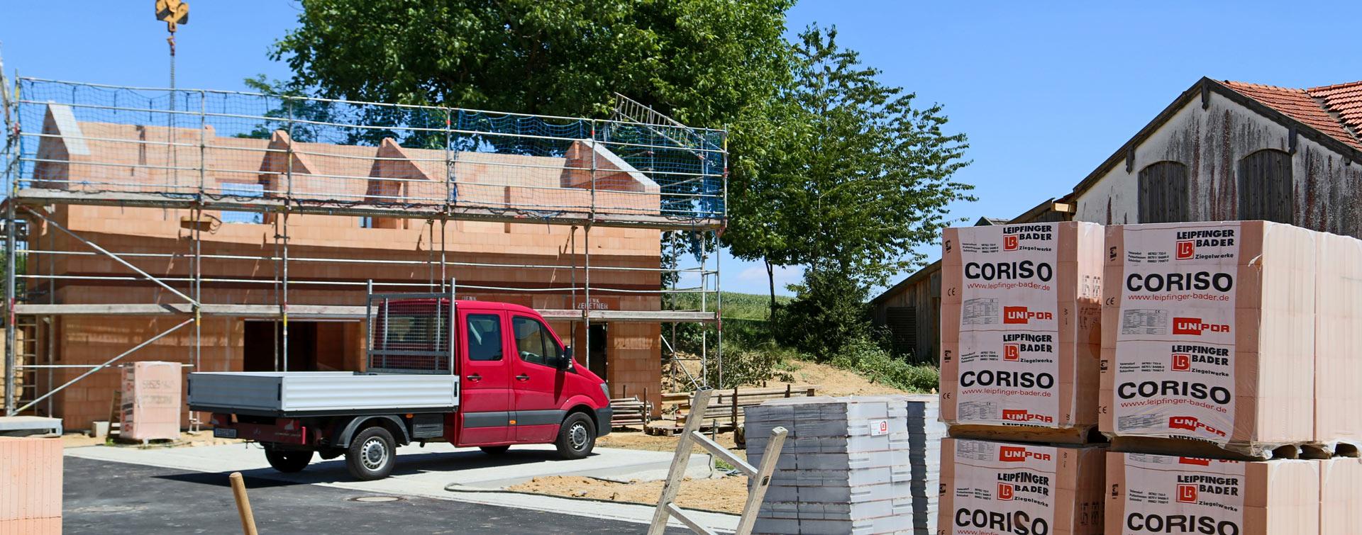 Rohbau von Haus - Projekt von der Zehetner Plan + Bau GmbH
