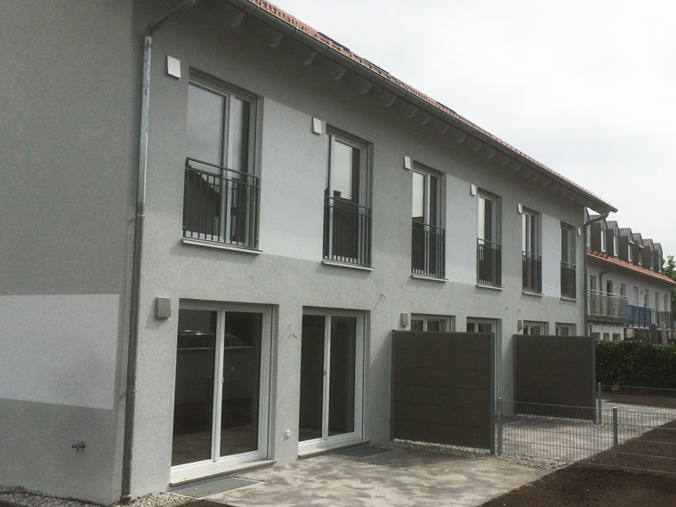 Neubau von Reihenhaus in Ismaning